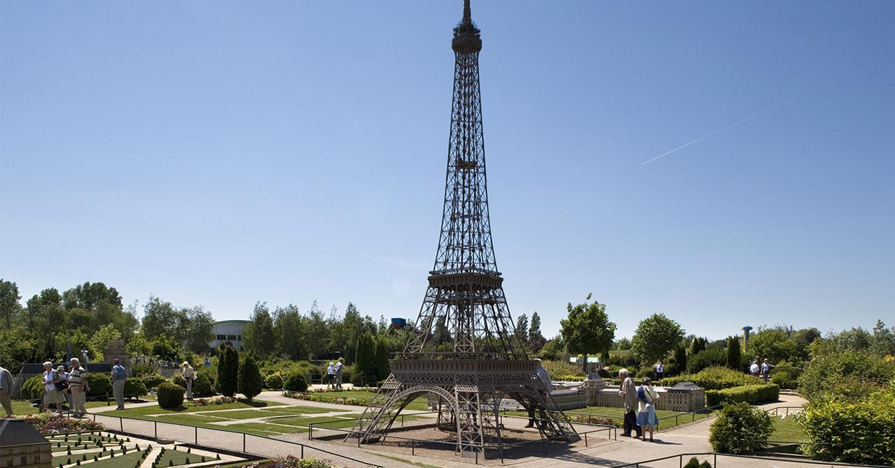 small Eiffel Tower at park France Miniature